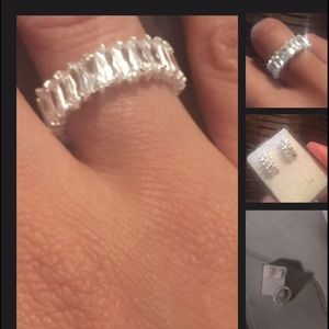 Jewelry - Sterling Silver ring and earrings.